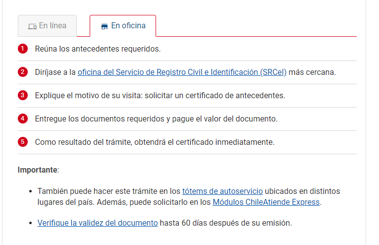 Dónde Sacar Certificado De Antecedentes En Chile