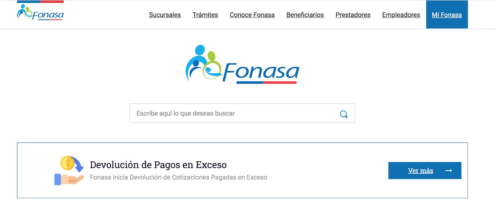 Cómo Ver Si Tengo Excedentes En FONASA Online