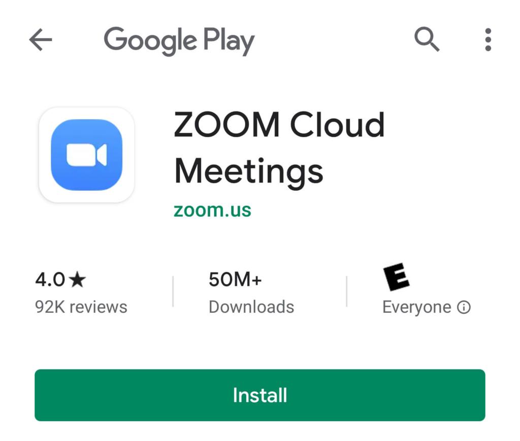 Zoom Meetings Fuente: Google Play